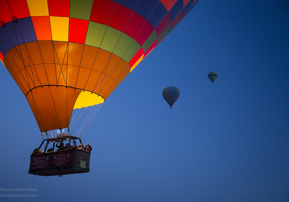 Cappadocia balloons by Anna Korbut